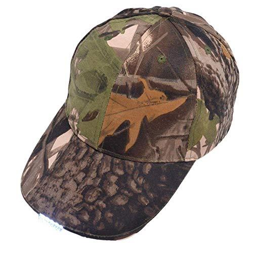DWXWMZ Cap Black Hat with Headlamp/5 Bright LED Lights/Unisex Baseball Cap/Easily Adjustable/One Size Fits All/Flashlight