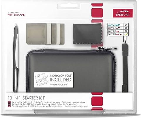 Speedlink Starter Kit 10-en-1 pour la N3DS Xl (Sacoche, Stylet Tactile, Film Protecteur, Housses pour Jeux, Chiffon Microfibres)