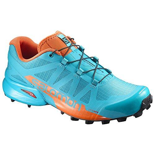 Salomon Speedcross Pro 2 W, Zapatillas de Trail Running para Mujer, Azul (Blue Bird/Scarlet Ibis/Black 000), 42 2/3 EU