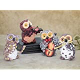 TiedRibbons® Set Of 4 Owls Playing Musical Instruments | Gift For Home Warming | Decorative Items For Living Room | Showpieces For Home | Christmas Decorations