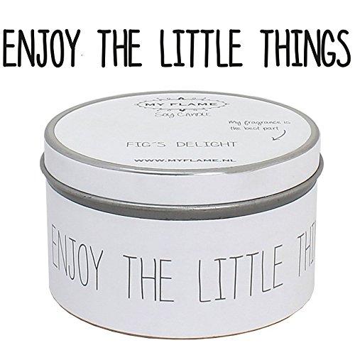 Eco-Soia candela profumata in contenitore di latta, fragranza-30ore.-regalo candela-candela profumata in cera di soia Candele-Testo: (Olio Cera Fine)