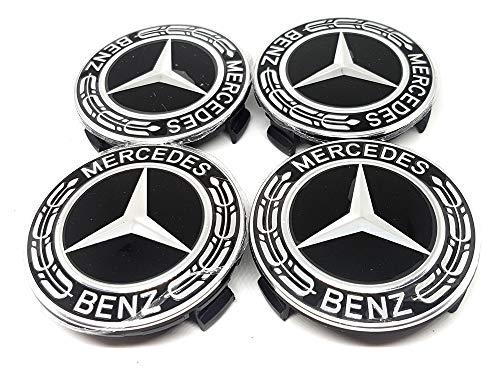 UG Lot de 4/cache-moyeux 60/mm avec logo Mercedes/ /Classe A B C E S/ /pour voiture SLK350/SLK230/SLK320/SL55