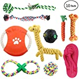 ONBET 10pcs Puppy Chew Toys Dog Teething Training, Cotton Puppies Rope Toy for Small Dogs