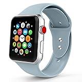 Iyou f¨¹r Apple Watch Armband 38MM/42MM, Weiches Silikon Ersatzarmband Classic Sportarmband f¨¹r iWatch 2017 Apple Watch Series 3/2/1, Mehr Farben W?hlen Sie