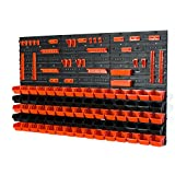 Lot de 75 XS en noir et orange boites avec supports, porte-outils