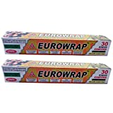 #3: EUROFOIL CLING FILM YELLOW COLOR 30 METERS USE FOR COLD ITEMS SALAD, FRUIT ETC.(PACK OF 2 )