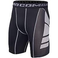 Hivexagon Pantalones Cortos de Compresión de Media Pierna para Deportes f58856d5a74c
