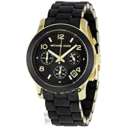MK5191 Ladies Black Rubber Strap Michael Kors Watch