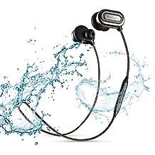 Cuffie Bluetooth, JESBOD T1000-orecchio auricolari Sport, Wireless V4.1 cuffie Bluetooth con l'annullamento di rumore, IPX4 sweatproof auricolari con il Mic / APT-X per il Running, Allenamento, Palestra (Grigio)