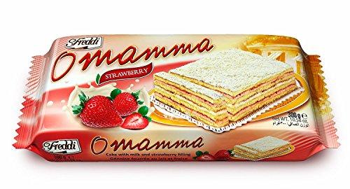 O'Mamma Fragola Torta Farcita al Latte e Fragola 300G - [confezione da (Torta Di Quattro Strati)