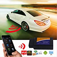 Wireless WiFi ELM327 OBD2 Auto diagnostica Scanner Tool motore di prova Lettore di codice per Android, iPhone, iPad e PC