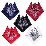 Lesplus Bandane Colorate, Uomo Donna Set Bandana Cotone Per Capelli Paisley Sciarpa Fazzoletti da Taschino Moto