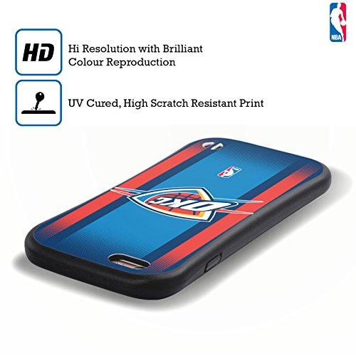 Ufficiale NBA Banner Oklahoma City Thunder Case Ibrida per Apple iPhone 6 / 6s Gradiente Mezzotono