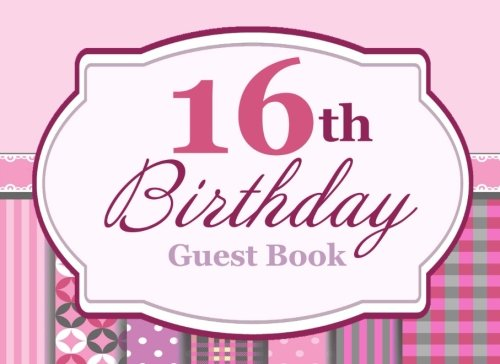 16th Birthday Guest Book Gift For Girls Pretty