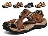 Lijeer Sommer Neue Outdoor Herren Strand Schuhe Leder Casual Schuhe Korean Breathable Wxposed Toe Leder Sandalen Baotou Anti-Rutsch