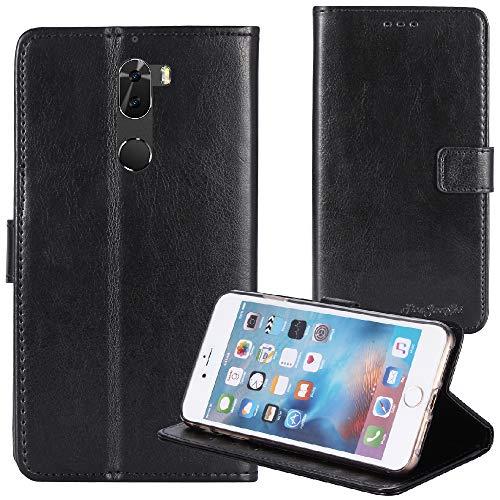 TienJueShi Negro Retro Premium Magnético Función de Soporte Funda Caso de  Stent y Ranuras Teléfono TPU Silicona Case para Coolpad Cool Play 6 5 5