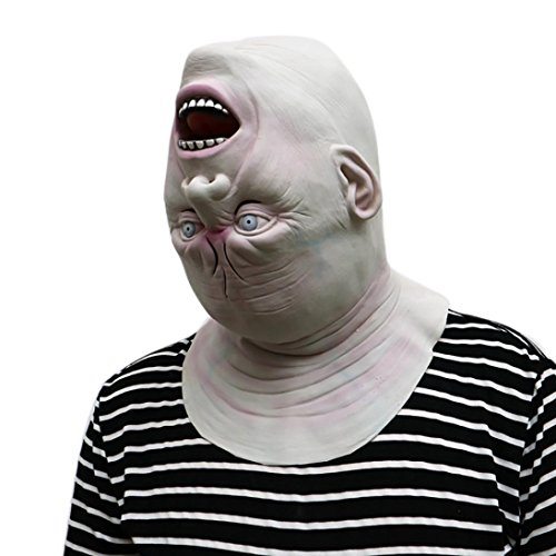Halloween Masken, Gusspower Neuheit Maske Melting Gesicht Erwachsene Latex Kostüm Walking Dead Halloween Scary Maske Horror Adult Kostüm Zubehör