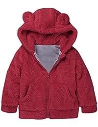 Abrigo para bebé niña con capucha , Yannerr Chica invierno Engrosamiento del oído de conejo y calor encapuchados chaqueta sudadera capa ropa outwear gruesa caliente