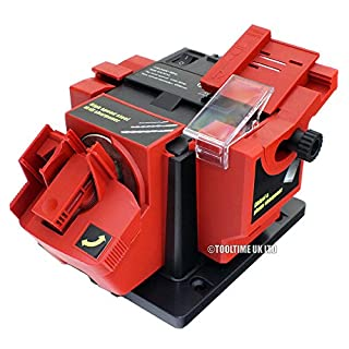 Tooltime® 96W Electric Multi Purpose Bench Mountable Drill Bit, Knife, Scissor and Chisel Sharpener