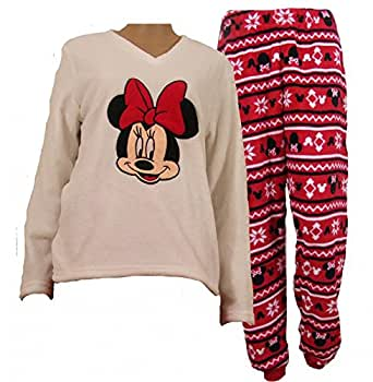 ensemble de pyjama en polaire disney minnie mouse femme v tements et accessoires. Black Bedroom Furniture Sets. Home Design Ideas
