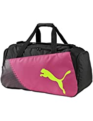 Puma Pro Training Medium Bag - pink glo-safety yellow-black-(
