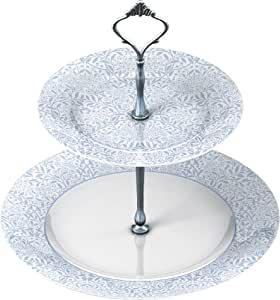 V&A Michaelmas 2 Tier Fine China Cake Stand In Gift Box by Creative Tops