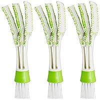 """Contenuto della confezione:  3 x Air Vent Cleaner  Dettagli:  Colore: Verde + Bianco Materiale: Micro-fibra, PP, Nylon  Dimensioni: 6.5 """"* 1.57"""" (L * W), la lunghezza dei capelli: 1.3 """""""