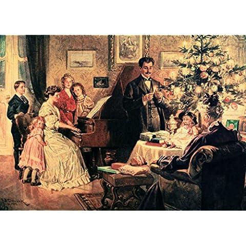 """Stampa artistica / Poster: Franz Bohumil Doubek """"O du fröhliche, o du selige, gnadenbringende Weihnachtszeit!"""" - stampa di alta qualità, immagini, poster artistici, 85x60 cm"""
