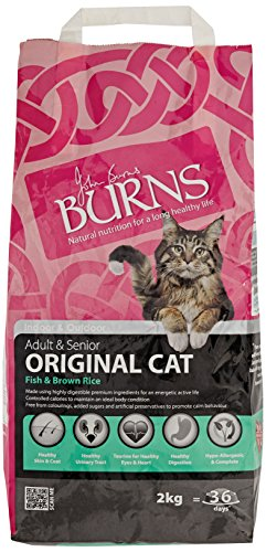 Burns Cat Food Adult & Senior Original Fish & Brown Rice 2 Kg