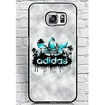 Floralmaycase Funda Cover, Samsung Galaxy S6 Edge Plus Funda Adidas Originals Brand Logo Theme Hard Plastic Shell Funda Cover for Samsung Galaxy S6 Edge Plus