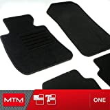MTM Fussmatten Serie 3 (E90) ab 03.2005- Passform wie Original aus Velours, Automatten mit Absatzschoner aus Textile, Rand rutschhemmender, cod. One 301