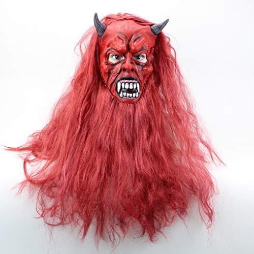 Haare bösen Geist Maske Halloween Maske hupen Monster Tanzparty Urlaub Maske haube Set Requisiten ()