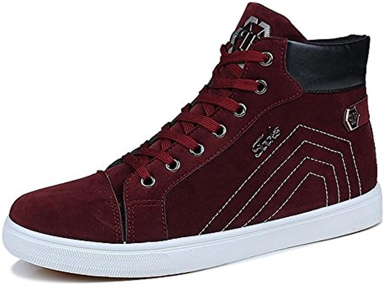 Shufang-scarpe, 2018 Scarpe da ginnastica per uomo (Coloree   Rosso, Dimensione   44 EU) | Area di specifica completa  | Scolaro/Ragazze Scarpa