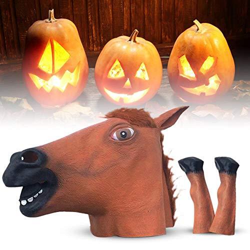 orse Kopf Maske Latex Tier Maske für Halloween, Maskerade, Karneval, Weihnachten, Ostern oder andere Partys ()