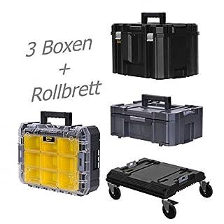 STANLEY FATMAX TSTAK Box III + Box V + Box VI plus Rollbrett