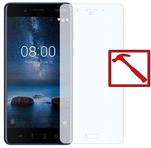 Slabo Premium Panzerglasfolie für Nokia 8 Panzerfolie Schutzfolie Echtglas Folie Tempered Glass KLAR 9H Hartglas