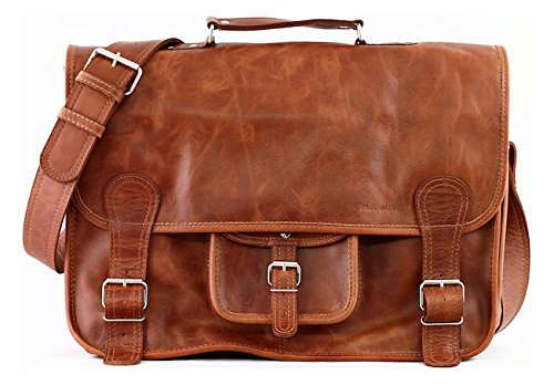 PAUL MARIUS Cartable Cuir couleur Naturel taille XL