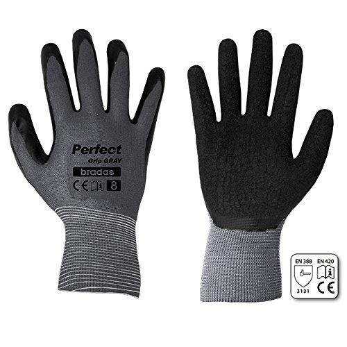 12 Paar Arbeitshandschuhe mit Latexbeschichtung Gr. 9 grau Montagehandschuhe Gartenhandschuhe Arbeitsbekleidung Sicherheitshandschuhe Schutzhandschuhe