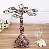 CJH Lega europea colla goccia vino cremagliera creativo a testa in giù porta bicchiere di vino ristorante decorazione della casa rosso bronzo