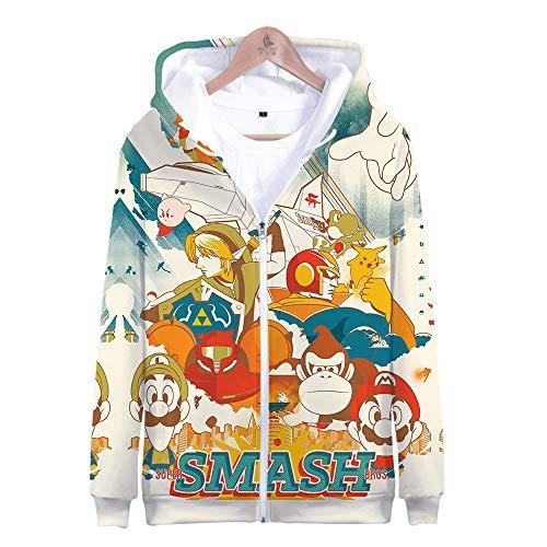 Kostüm Bros Alle Smash - Kapuzenpullover,Super Smash Bros Man Beiläufige Hoodies Pullover Langarm 3D Pullover Sweatshirts Lust auf Hoodie mit @ Anime_M