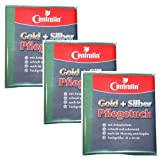 Pflege und Putztuch für Silber, Gold, Kupfer und Messing (31x23 cm), 3er Set
