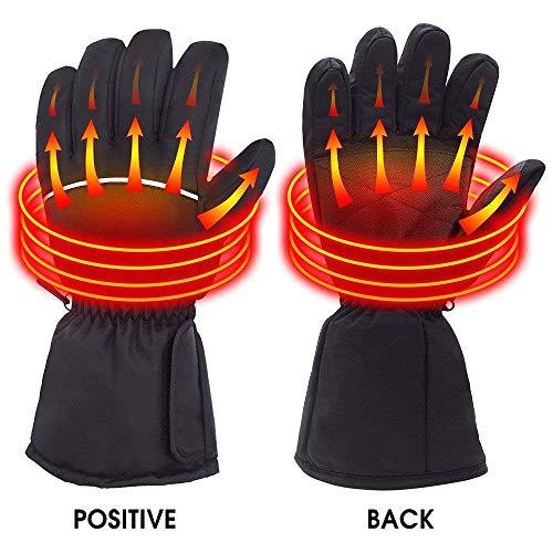 Eléctrico calefacción guantes, deportes al aire libre para motocicleta, esquí de litio recargable Powered Auto climatizada calentador guantes