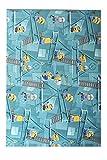 havatex Kinderteppich Minions - Farbe wählbar: Blau, Türkis | Spielteppich schadstoffgeprüft pflegeleicht strapazierfähig Kinderzimmer Spielzimmer Kids Mädchen Jungen, Farbe:Türkis, Größe:60 x 120 cm