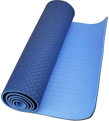Red-Rock-eco-friendly-double-textures-TPE-yoga-mat-6mm-Light-Blue