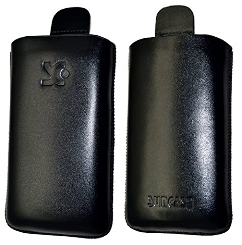 Suncase Leather Pouch for BlackBerry Pearl 3G 9105 Black