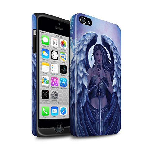 Officiel Elena Dudina Coque / Brillant Robuste Antichoc Etui pour Apple iPhone 4/4S / En Feu Design / Super Héroïne Collection Ange Gardien