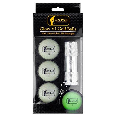 On Par, leuchtender Golf-Bälle mit UV-LED-Taschenlampe