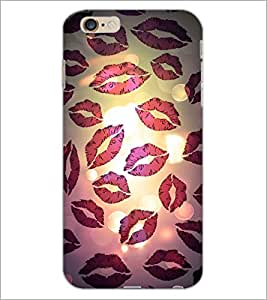 PrintDhaba Kiss Pattern D-2793 Back Case Cover for APPLE IPHONE 6 (Multi-Coloured)
