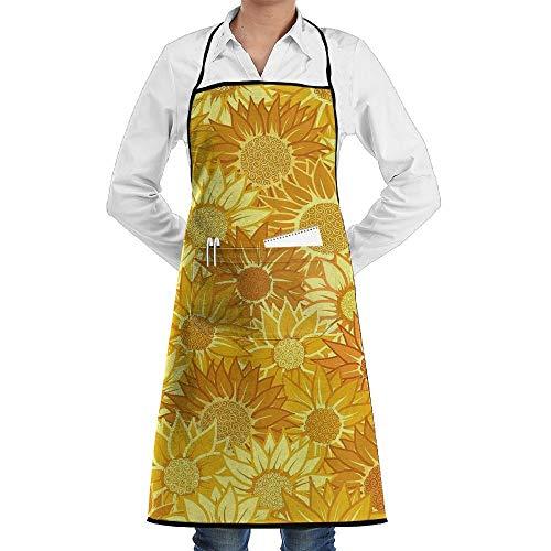 chürze kochtn, Bib Apron Pockets Sunflower Durable Cooking Kitchen Aprons ()