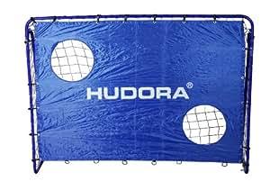 Hudora 76127 But de football 213x152cm avec mur de tir au but cadre tubulaire 25mm